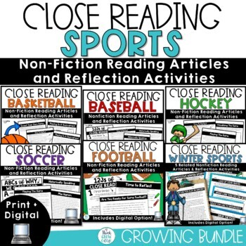 Sports Reading Comprehension Worksheets & Teaching Resources