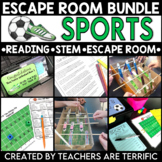 Sports Reading and Escape Room Bundle