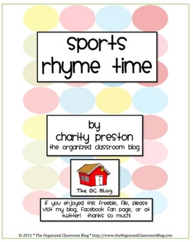 Sports Rhyme Time Game