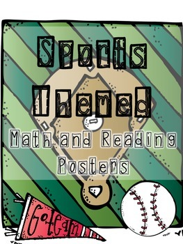Sports Room Theme - Math and Reading Posters