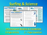 Sports & Science Article - Surfing (forces & motion, puzzles) - SUB PLANS