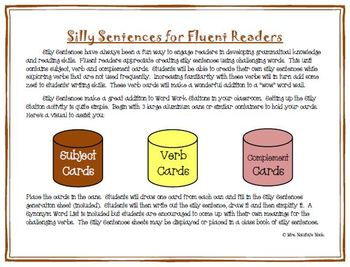 Sports Word Work - Silly Sentences for Fluent Readers
