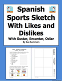 Sports Sketch Likes and Dislikes With Gustar, Encantar, and Odiar