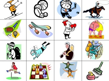 Sports Slapjack / Concentraton Game Cards / Flashcards - Any Language