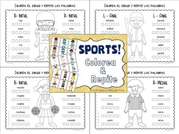 Sports Spanish Articulation and Language MEGA PACK -- NO PREP