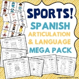 Sports: Spanish Speech Therapy - Articulation and Language MEGA PACK -- NO PREP