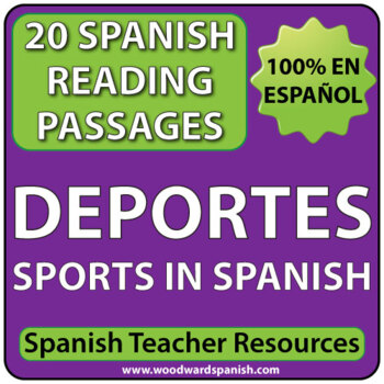 sports spanish reading passages los deportes by woodward education. Black Bedroom Furniture Sets. Home Design Ideas