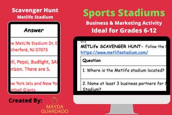 Sports Stadium Activity & MetLife Scavenger Hunt