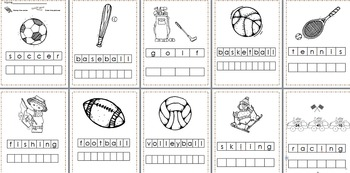 Sports Stamp a Word & Write the Room Centers