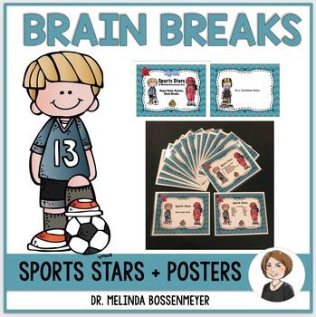 Sports Stars (Brain Break Cards, Powerpoint, Station Posters)