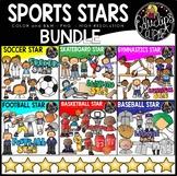 Sports Stars Clip Art Bundle {Educlips Clipart}