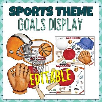 Sports Stars Student Goal Display Editable - Sports Themed