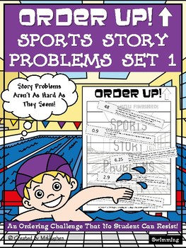 Sports Story Problems - Order Up! Set 1 (Swimming)