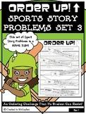 Story Problems | Mixed Math Skills | Baseball | Sports Order Up! Set 3