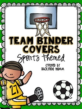 Sports TEAM Binder Covers