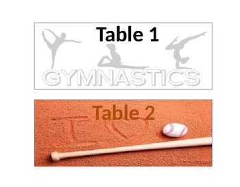 Sports Table Signs