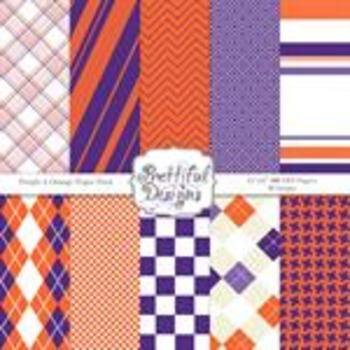 Sports Team Color Papers Orange and Purple