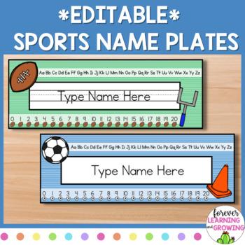 Sports/Team Name Plates