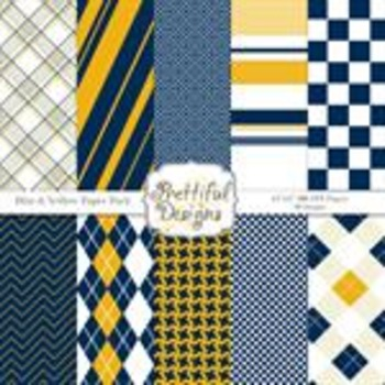 Sports Teams Paper Pack Blue and Yellow