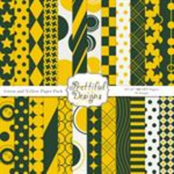 Sports Teams Paper Pack Green and Yellow