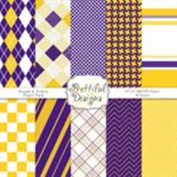 Sports Teams Paper Pack Purple and Yellow