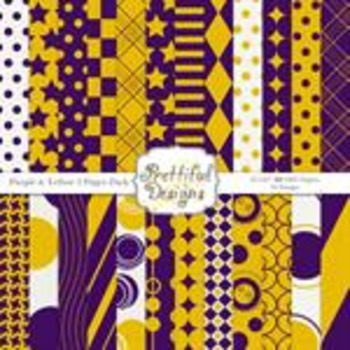Sports Teams Paper Pack Yellow and Purple