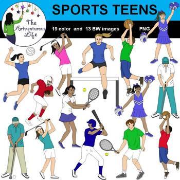 Sports Teens Clip Art