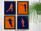 Orange and Navy Sports Theme Classroom Decor Football Soccer Baseball etc