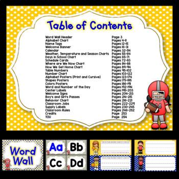 Sports Theme Classroom Decor EDITABLE (Sports Classroom Theme Decor)
