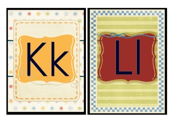Sports Theme ABC Letter Cards