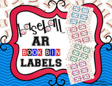 Editable Sports Theme AR Book Bin Labels - Baseball