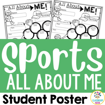"""Sports Theme:  """"All About Me"""" Poster"""