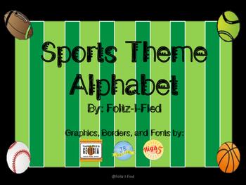 Sports Theme Alphabet