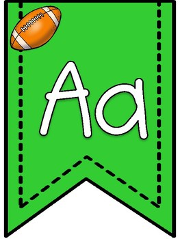 Football Theme Alphabet Banner Pennants