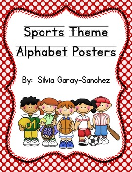 Sports Theme Alphabet Posters
