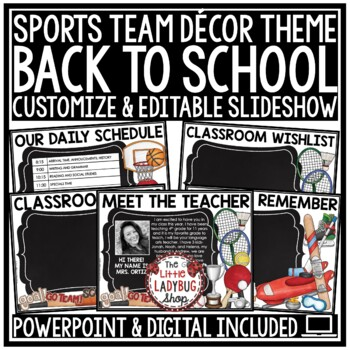 Sports Theme Back To School PowerPoint for Open House -Meet The Teacher Night