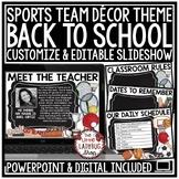 Sports Theme Open House PowerPoint - Meet The Teacher Template Editable