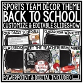Sports Theme Back To School PowerPoint for Open House -Mee