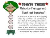 Sports Theme Behavior Management Chart
