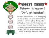 Sports Theme Behavior Management Chart