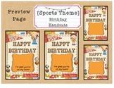 Sports Theme Birthday Certificates