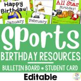 Sports Theme:  Birthday Resources (Editable)