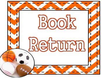Sports Theme - Book Return Poster