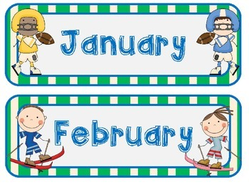 Sports Theme Calendar