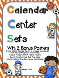 Sports Theme Calendar Center Set