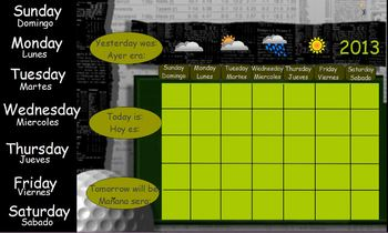 Sports Theme Calendar Flipchart (ActivInspire)