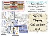 Sports Theme Calendar Kit