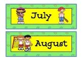 Sports Theme Calendar Months