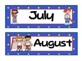 Sports Theme Calendar Months - Version 2