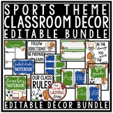 Sports Theme Classroom Decor - Editable Sports Class Decor Back to School
